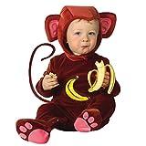 Baby Affenkostüm Affe Kostüm Overall Äffchen Babykostüm Plüsch Strampler Affen Tierkostüm Fasching Affekostüm Karnevalskostüm Faschingskostüm Tier Mottoparty Verkleidung Karneval Kostüme für Kinder