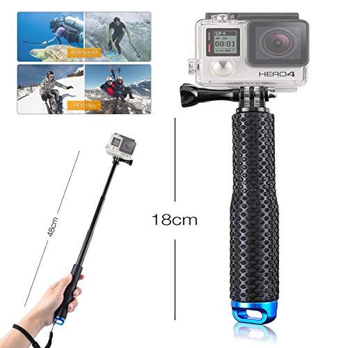Selfie stick impermeabile hocosy, bastone monopiede allungabile selfie stick per gopro hero 5, 4, 3+, 3, 2, 1 e action cam, fotocamere sportive, ecc