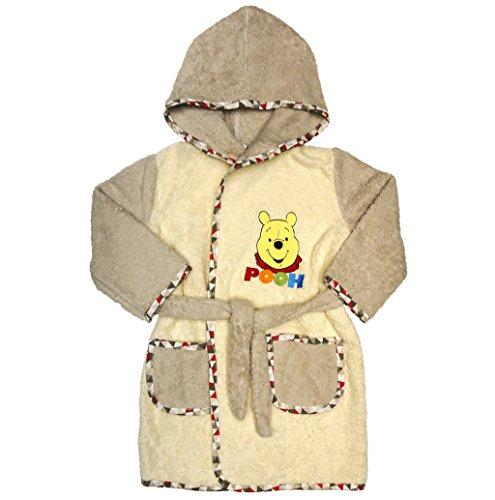 Baby- und Kinder-BADEMANTEL mit Winnie The Pooh, Kapuzen-BADETUCH, Gürtel, Baby-Handtuch mit Taschen in Grösse 86-92, 98-104, 110-116, BAUMWOLLE, SUPER WEICH Größe 86-92 (Winnie The Pooh Jungen Oder Mädchen)