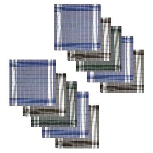 10x Homme Mouchoirs Set 40 x 40 cm 100% Coton Par Verline - Mouchoirs en tissu Mouchoirs en tissu Mouchoirs Mouchoirs en tissu Mouchoirs Tissu pour enfants Arabias Mouchoirs