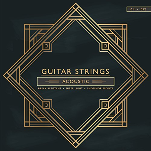 Gitarrensaiten .012-.053/Akustik-Gitarre/Western-Gitarre/Stahl-Phosphor Bronze-Saiten Premium-Qualität
