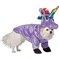 Costume da uinicorno per cane travestimento carnevale halloween cosplay da  unicorno viola con corno arcobaleno costume b78cf6df0490
