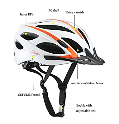 Sefulim Cycle Bike Helmet Men Adjustable Sport Women Cycling Helmets-Safety MTB Bicycle Helmet by Sefulim