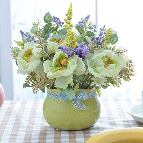 Jnseaol Kunstblumen Künstliche Blume DIY Wohnzimmer Schlafzimmer Windowsill Hochzeit Party Küche...