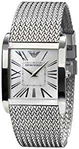 Emporio Armani Men's AR2015 Silver Stainless-Steel Quartz Watch with Silver Dial