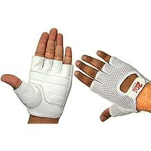2fit Gewichtheber-Handschuhe, Leder / Netzgewebe, Handschuhe, weiß, für Damen, Fahrrad-Handschuhe, für Fitness / Bodybuilding, für Damen
