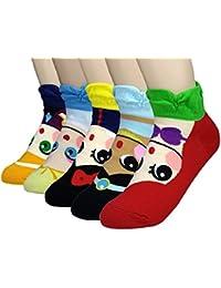 JJMax Niñas princesa serie calcetines de caracteres: Elsa, Anna, Ariel, Blanca Nieves, jazmín