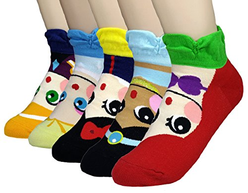 essin Serie Charakter Socken: Elsa, Anna, Ariel, Schneewittchen, Jasmin ()