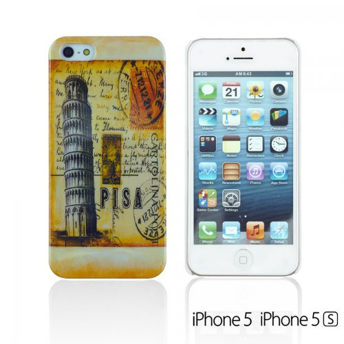 OBiDi - Designer Hard Case Cover / Housse pour Apple iPhone SE / Apple iPhone 5S / 5 - Whele Pisa