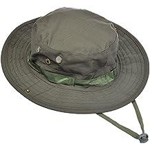 Contever® Sombrero de la Pesca - Gorra Pescador Gorro Para Mountaineer Campamento Redondo Adumbral Sombrero Camuflaje Estilo Deporte Hat Cap Para al aire Libre Actividad(Verde oscuro)