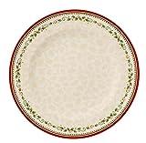 Villeroy & Boch Winter Bakery Delight Piatto Piano Stella cadente, 27 cm, Porcellana Premium, Bianco/Rosso/Beige