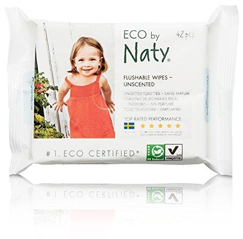 Naty by Nature Babycare Öko Feuchter Toilettentücher, 12er Pack (12 x 42 Stück)