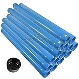 Agora-Tec® 3 Zoll DN 80 Brunnenrohr - Set (15 Meter) mit 13 Meter Vollwandrohr, Endkappe und 2 Meter Filterrohr mit einer (Schlitzweite: 0.5mm)