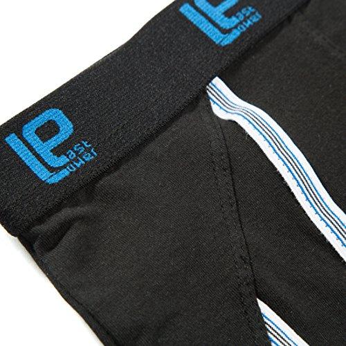 Lower East 6er Pack Herren Retro Boxershorts in verschiedenen Farben Schwarz (Schwarz)