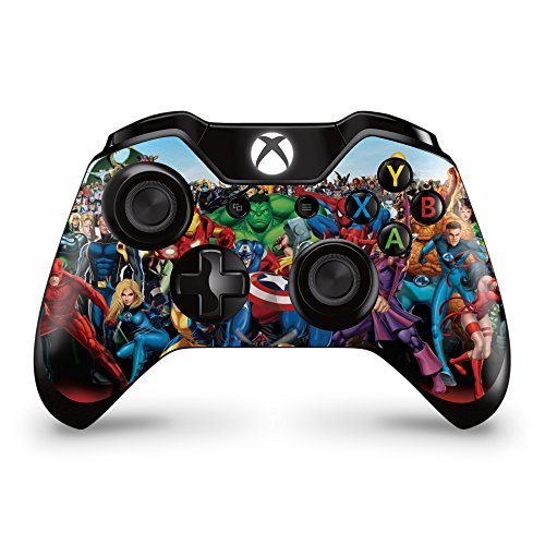 Price comparison product image GNG 2 x Marvel Xbox One Controller Skins Full Wrap Vinyl Sticker