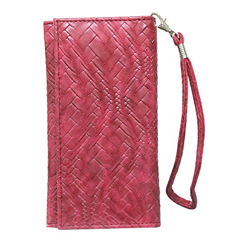 J Cover A5 Bali Leather Wallet Universal Pouch Cover Case For Moto G Plus, 4th Gen (, 32 GB) Red