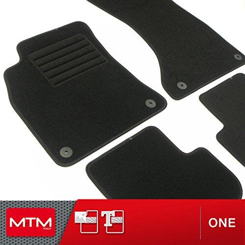 MTM Tappetini A4 Avant (B8) dal 04.2008-10.2015 su Misura Come Originali in Velluto, Battitacco in Moquette, Bordo Antiscivolo, cod. One 168