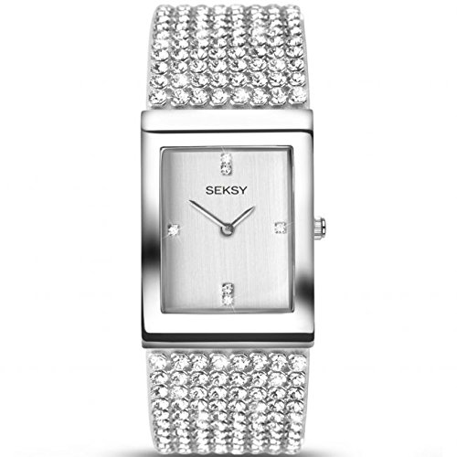 Seksy-by-Sekonda-Krystal-Ladies-Quartz-Watch-With-Swarovski-Set-Bracelet-And-Silver-Colour-Dial-2375
