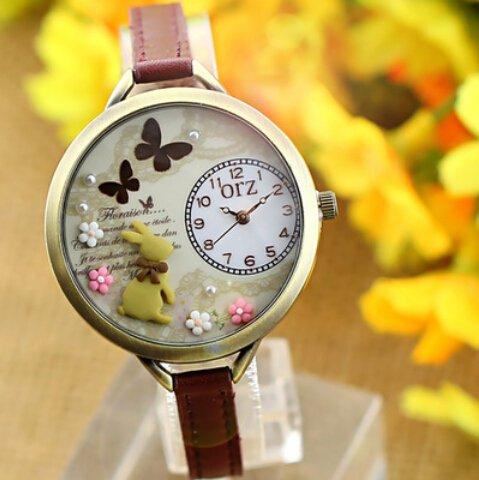 Orologio da polso al quarzo kawaii della ragazza con for Immagini orologi da polso