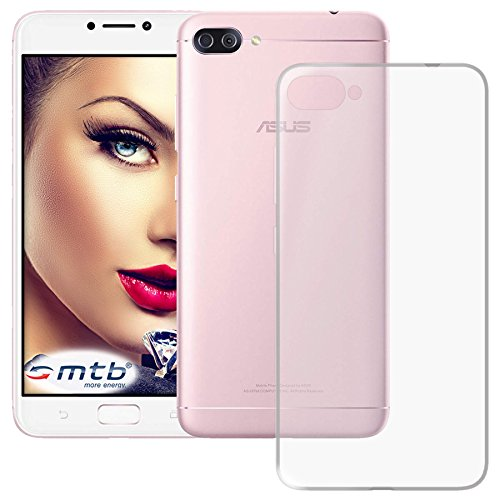 mtb more energy® Schutz-Hülle Clear und Slim für Asus Zenfone 4 Max (Pro/Plus) ZC554KL (5.5'') | transparent | flexibel | TPU Silikon Case Cover Tasche
