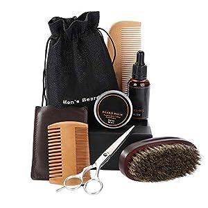 Schnurrbart Kit – Männer Bart Styling Shaping Schnurrbart Haarpflege Werkzeug Bart Styling Schnurrbart Haarpflege Werkzeug (Size : 01# 6PCS/Set)