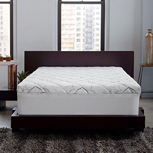 Sleep Innovations Matratzenauflage aus Memory-Schaum und Fasern Queen gebrochenes weiß - Queen-memory-schaum