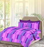 #9: Bombay Dyeing Premium Cotton Double Bedsheet With 2 Pillow Covers TC 140 Packed in a Gift[Blue]