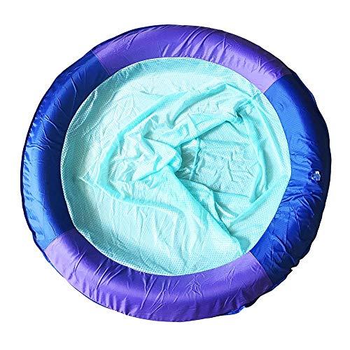 Ecisi Roll-Up-Pool Float, Mehrzweck-Hängematte (Sattel, Sessel, Hängematte, Drifter), tragbare Pool Float Mat, aufblasbare Schwimmbett Mesh Float -