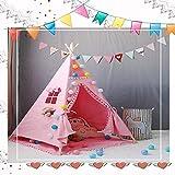 MAIBEI Kids Play Tent Tunnel mit Spielzeug für Jungen Girls Babies und Kleinkinder Prinzessin Castle Zelt für Mädchen Pop bis Zelt rosa Qualität Sicherheit Geburtstagsgeschenk Indoor Outdoor,Pinklace