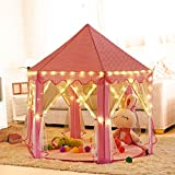 Outdoor Innen Princess Castle Play Zelten, shayson Große Playhouse Kinder mit 100 LED Lichter USB...
