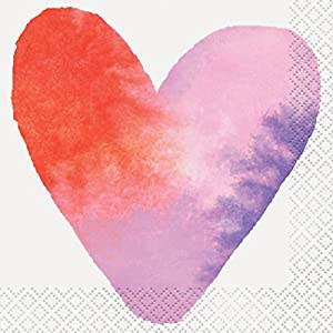 Watercolour Valentine Heart Party Supplies