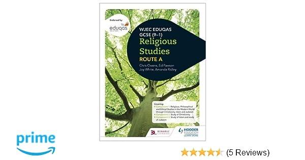 Wjec Eduqas Gcse  Religious Studies AmazonCoUk Joy White