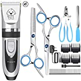 Dog Clippers,YiDon Low Noise Dog Grooming Clippers Cordless Pet Hair Trimmer Rechargeable Pet Groomimg Tool Professional Quiet Dog Grooming Kit with scissors comb Best Hair Clipper for Dogs Cats pets