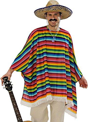 Preisvergleich Produktbild Widmann 9543X - Erwachsenenkostüm Mexicaner, Poncho und Sombrero, Einheitsgröe