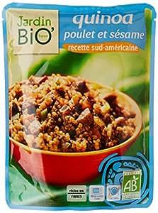 Jardin Bio Quinoa Poulet et Sésame Recette Sud-Américaine le Doypack 250g