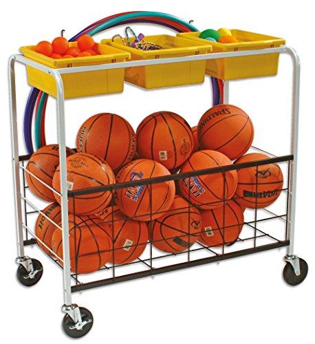 Copernicus Educational Aufbewahrungssystem Sport, fahrbares Ordnungssystem - Ballwagen Aufbewahrung Schule Turnen Turnhalle Sportunterricht Schulausstattung Kinder Schulsport Ausstattung