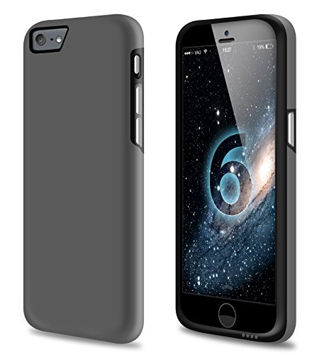 vau iPhone 6 Combo Bumper - grey & black - TPU-Hülle und Hard-Case für Apple iPhone 6 / 6S gray & black