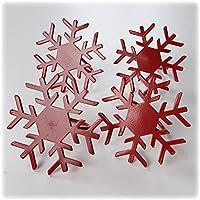 Ikea servilleteros Metal Rojo Diseño Copo de Nieve 602.752.99Muy Estable