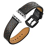 TONVER Ersatz Leder Uhrenarmbänder für Apple Watch Uhrenarmband 42mm