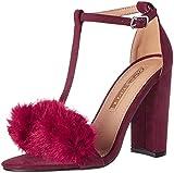 Buffalo Shoes Damen 315960A BHWMD A200# IMI SUE T-Spangen Sandalen, Rot (Burgundy 01), 37 EU