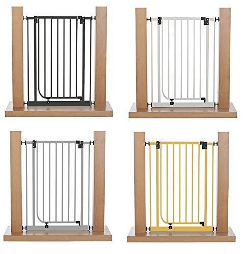 Impag Extrahoch 107 cm Tür- und Treppenschutzgitter 73 - 142 cm selbstschließend, ideal für große Menschen - zum Klemmen - ohne Bohren Easystep + 20