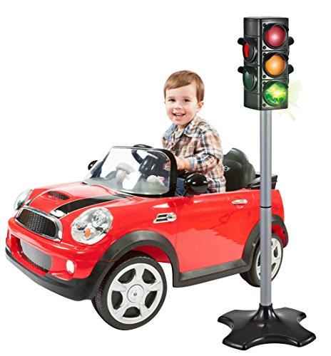 80 cm Spielzeug Ampel mit Lichtwechsel für Auto- und Fußgängerverkehr perfekt für kleine Bobby Car Fahrer thumbnail