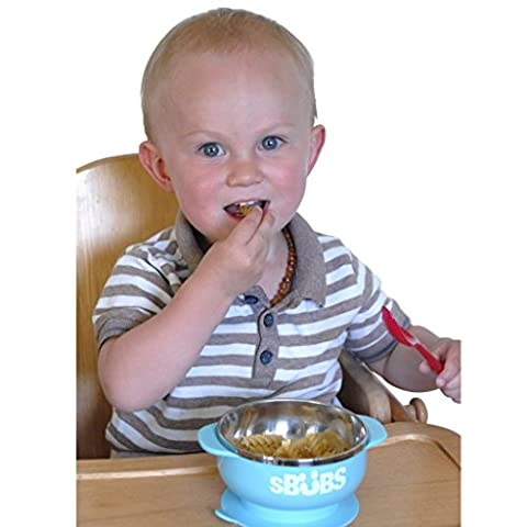 Baby Suction Bowl with Secure Lid Perfect for Weaning, Stainless Steel Feeding Bowls for Babies & Toddlers Keeps Food Warm