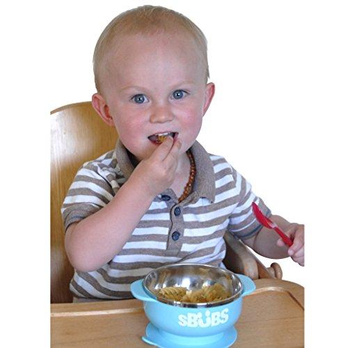Baby Schüssel, Saugschale Qualitäts baby schüsseln mit einem Deckel, einfaches Entwöhnen und Fütterung für Kleinkinder, Edelstahl für das Halten der Nahrung warm, bpa geben frei