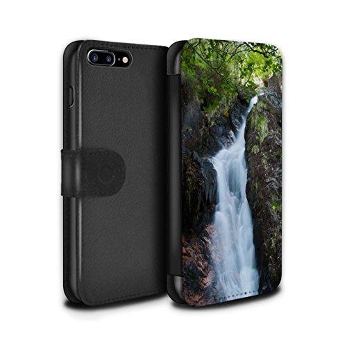 STUFF4 PU-Leder Hülle/Case/Tasche/Cover für Apple iPhone 7 Plus / Tal Muster / Schottisch Landschaft Kollektion Strom