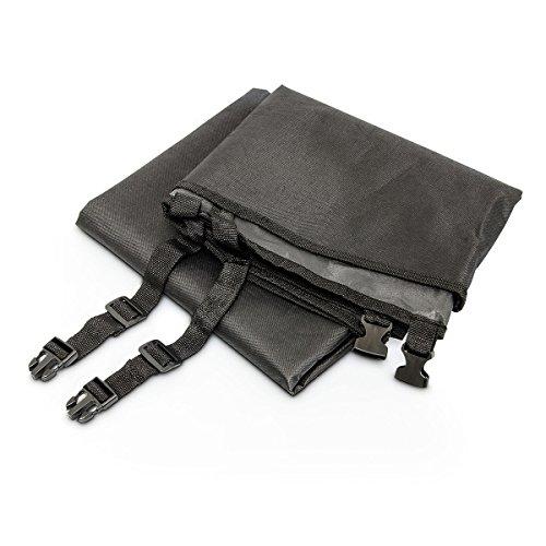 Relaxdays Autoschondecke für Hunde, Schutzdecke wasserdicht für Rücksitz, Kofferraum, HxBxT: 0,5 x 145 x 140 cm, schwarz