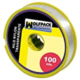 WOLFPACK 16010355 Hilo Nylon Transparente 0.7mm Rollo 100m