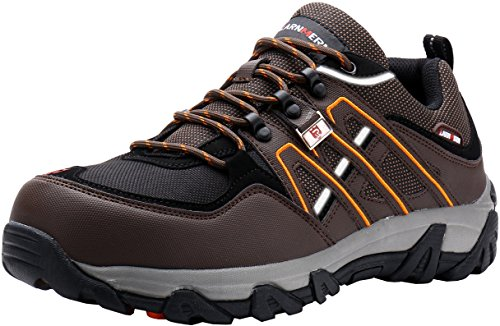 Scarpa Antinfortunistica Nero, Calzata Natural Confort LM-1505 Mondopoint. Puntale AirToe Acciaio. Antiperforazione Save & Flex Plus (48 EU, Marrone SRC)