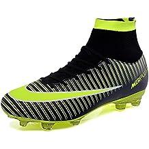 KAMIXIN Botas de Fútbol Hombre Aire Libre Deporte Cesped Artificial  Zapatillas de Futbol Training Adolescentes Niños 94396a6894aa9