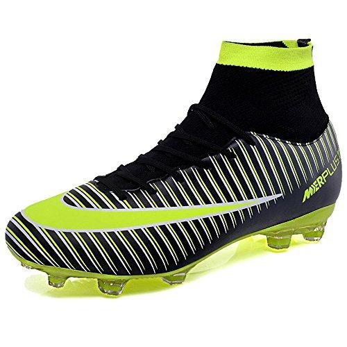 KAMIXIN Botas de Fútbol Hombre Aire Libre Deporte Cesped Artificial  Zapatillas de Futbol Training Adolescentes Niños 7ea8c3295aa86